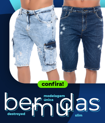 Minibanner-Mobil- bermudas jeans